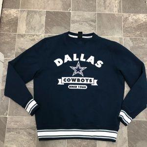Men's Dallas Cowboys big logo crew sweatshirt